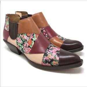 🔥BOGO🔥 🆕 COACH Patchwork Floral cowboy boots